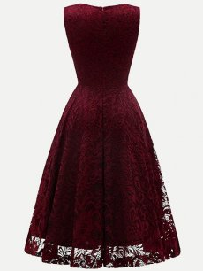 Guipure Sleeveless Lace Overlay Dress