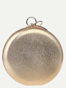 Solid Round Chain Clutch Bag
