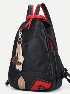 Vinfemass National Style Sewing Threads Patchwork Backpack