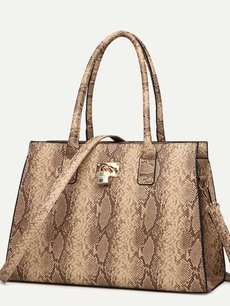 Snake Pattern Retro Tote Shoulder Bag