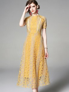 Lace Evening Dress With Sleeves