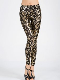Vinfemass Retro Sexy Printing Slim Leggings