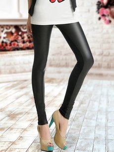 Sexy Black Cotton Leggings