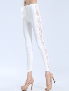 Solid Lace Patchwork Hollow Leggings