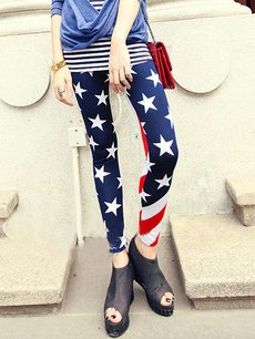 Sexy US American Flag Print Leggings