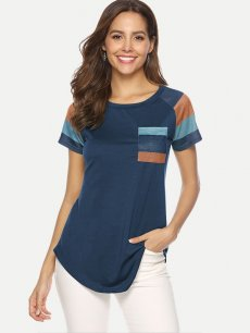 Color Block Striped Tee