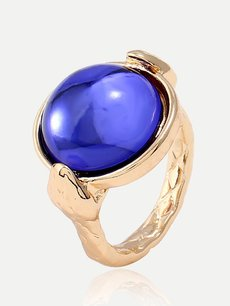 Gemstone Decor Gold Ring