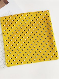 Color Block Yellow Bandana