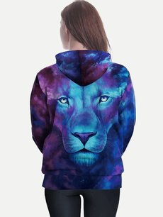 Unisex 3D Lion Hoodies Hooded Sweatshirts