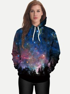 Unisex 3D Stars Hoodies Hooded Sweatshirts