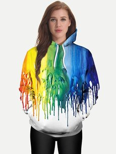 Unisex 3D Watercolors Hoodies Hooded Sweatshirts