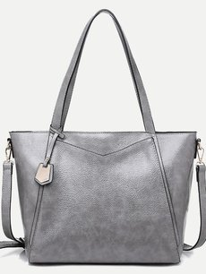 Simple Large Solid Tote Shoulder Bag