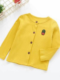 Kids Girl Solid Knit Cardigan Sweater