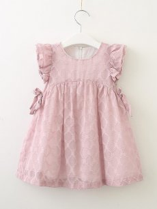 Toddler Girls Chiffon Solid Color Sleeveless Cute Dress