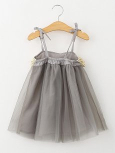 Toddler Girls Mesh Grey Slip Tutu Dress