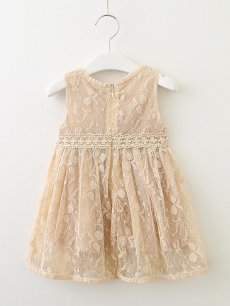 Toddler Girls Lace Patchwork Sleeveless Dress