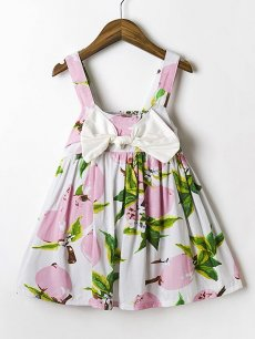 Toddler Girls Floral Bow Front Slip Dress