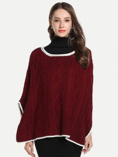 Womens Knit Sweater Jumper Batwing Sleeve Loose Pullover