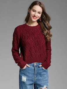 Vintage Solid Knit Sweater