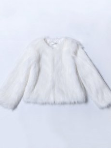 Solid Faux Fur Jacket