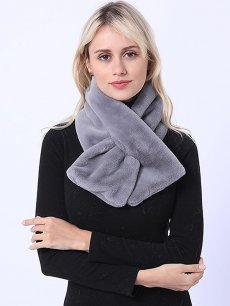Faux Fur Tippet Warm Solid Scarf