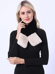 Faux Rabbit Fur Thick Tippet Scarf