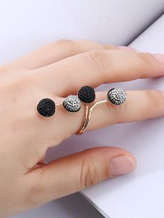 Rhinestone Decor Ring