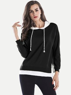 Color Block Hoodies Hooded Sweatshirt