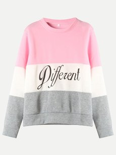 Color Block Letters Sweatshirt
