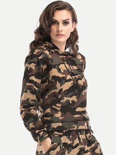 Camo Hoodies Drawstring Hooded Sweatshirt