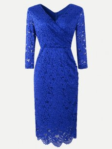 Guipure Lace Overlay Bodycon Dress