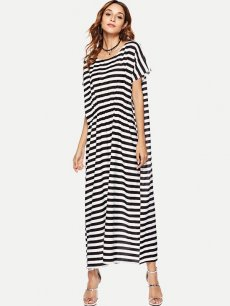 Striped Loose Long Maxi Dress