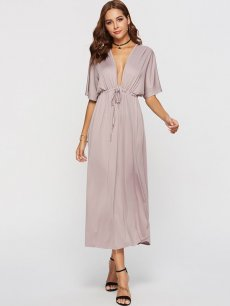 Solid Plus Size Maxi Dress