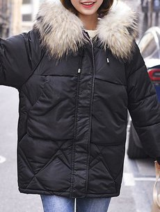 Oversized Faux Fur Hooded Puffer Coat