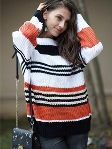 Rainbow Striped Jumper Sweater