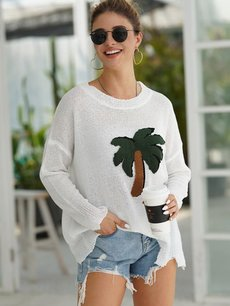 White Tree Pattern Jumper