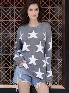 Star Knit Jumper Sweater