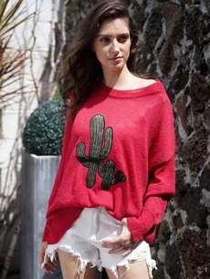 Solid Cactus Knit Jumper