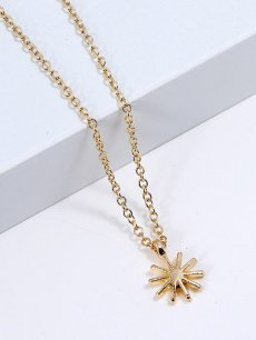 Sun Gold Chain Pendant Necklace
