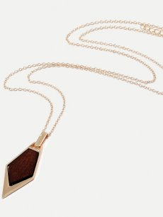 Geometric Gold Chain Pendant Necklace