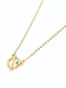 Circle Rhinestone Gold Pendant Necklace
