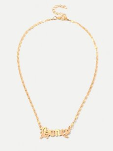 Letter Gold Chain Pendant Necklace