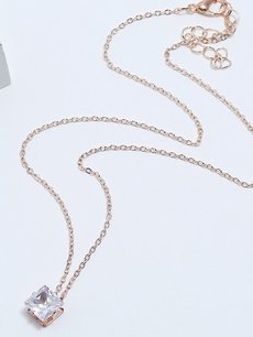 Rhinestone Gold Pendant Necklace