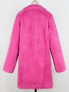 Rose Open Front Long Faux Fur Coat