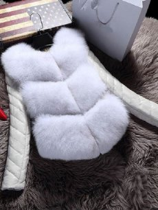 Solid Contrast Faux Fur Jacket