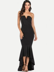 Bandeau Backless Bodycon Fishtail Formal Dress