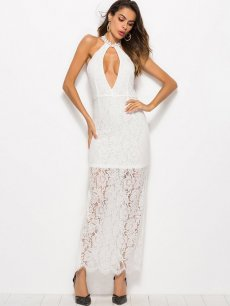 Sexy Cut Out Bodycon Lace Prom Dress
