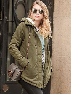 Womens Parka Coat Jacket Fleece Warm Winter Thick Hooded Coat Jacket For Womens