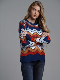 Womens Knit Sweater Jumper Rainbow Striped Pullover Sweaters For Juniors