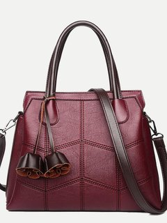 Womens Shoulder Bags Fashion Vintage Handbags Crossbody Leather Solid Color Crocodile Pattern Large Tote Bags For Work Flowers Tassels Bags For Women